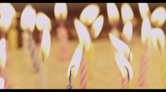 Candles Blown Out Stock Footage