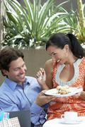 Couple Sharing A Meal - stock photo