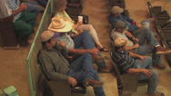 Stock Video Footage of Ranchers watch cattle auction