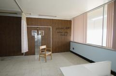 Graffiti On Wall Of Hospital Room - stock photo