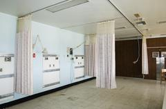Empty Hospital Room - stock photo