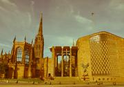 Stock Photo of retro looking coventry cathedral