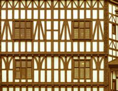 Stock Photo of retro looking tudor building