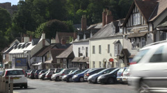 High street in dunster Stock Footage