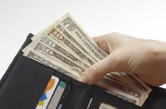 Wallet Full Of Money Stock Photos