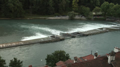 The Kirchenfeld bridge, Bern, Berne, Switzerland Stock Footage