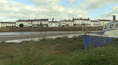 Barnstaple and river taw at low tide Stock Footage