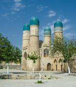 chor-minor minaret, bukhara, uzbekistan - stock photo