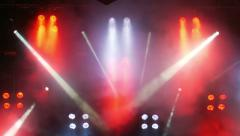 stage lights with moving lights - stock footage