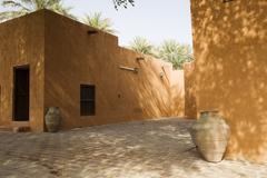 Courtyard Of Al Ain Museum - stock photo