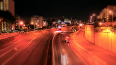 2K Time Lapse of Traffic on a Busy Freeway - stock footage