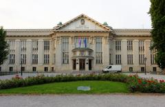 Croatian national state archives building in zagreb, croatia Stock Photos