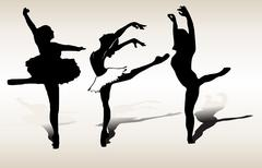 Dancing silhouettes - vector Stock Illustration