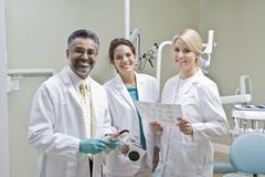 Portrait Of Dentist Team Stock Photos