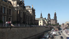 Tourist Walk in Historic City - Dresden, Germany Stock Footage