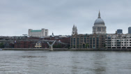 Stock Video Footage of Millennium Bridge, London, timelapse at day