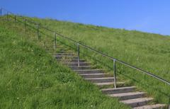 Stairs to blue sky Stock Photos
