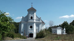 Leaning Church Stock Footage