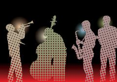 Jazz band Stock Illustration