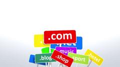 Stock Video Footage of Internet website domains, Seo, search, keyword, dot com, hosting.
