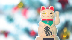 Japanese Lucky Cat 2 Stock Footage