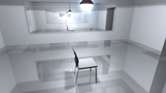 Interrogation room, police, suspect, questioning. Stock Footage