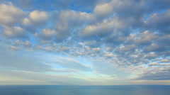 Cloudy sky over the sea (Time Lapse). FULL HD Stock Footage