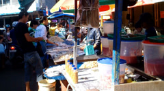 Traditional Market in Singkawang Stock Footage