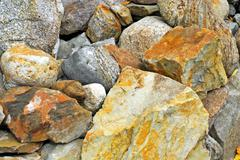 Close-up of different large rocks in pile. Stock Photos