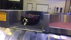 Baggage Claim 3723 - stock footage