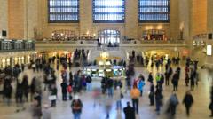 Grand Central Station Time Lapse Tilt Shift Stock Footage