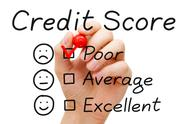 Stock Photo of poor credit score