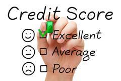 Excellent credit score Stock Photos