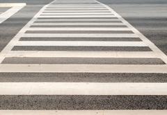 Pedestrian zebra crosswalk - stock photo