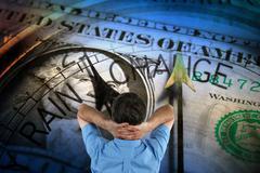 Dollar crisis Stock Illustration