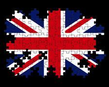Union jack jigsaw puzzle Stock Illustration