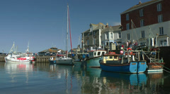 Waterfront at Padstow harbour, Cornwall, United Kingdom, England Stock Footage