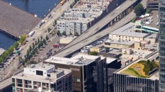 Highway 99 Viaduct Time Lapse Stock Footage