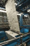 Process Of Newspaper Production Stock Photos