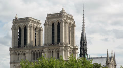 Notre dame, paris france 4k Stock Footage