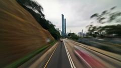 Hong Kong City Driving Time Lapse Stock Footage