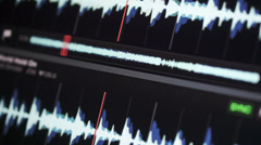 Waveform music Stock Footage