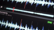 Stock Video Footage of waveform music