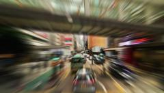 Hong Kong City Driving Time Lapse Zoom Blur - stock footage