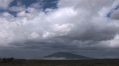 Storm Clouds over Ute Mountain New Mexico/Colorado Stock Footage