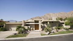 Modern Suburban House Exterior - stock photo