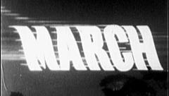 MARCH Vintage Old Film Title Graphic Leader 8mm Month 7007 Stock Footage
