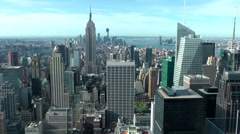 New York 318 view from Rockefeller Center tower to South Manhattan Stock Footage