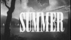SUMMER SEASON Sun Water Sea Fun Vintage Old Film Title Graphic Leader 8mm 7008 - stock footage
