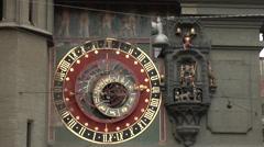 Bern, Berne, Switzerland - famous Zytglogge zodiacal clock Stock Footage